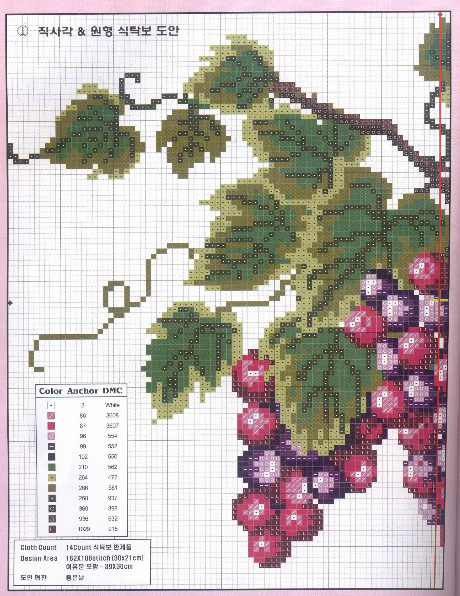 Вышивание крестиком схемы виноград